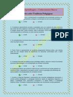 Treino de Aprendizagem - Questões Sobre Tendências Pedagógicas