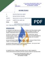 Informe de Intercomunicadores- Paseo Del Campo Realizado