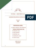 Operaciones de procesos (OPE)
