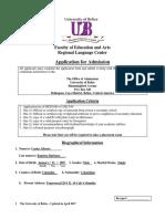 RLC Application Form