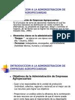 Introducción a La Administración de Empresas Agropecuarias
