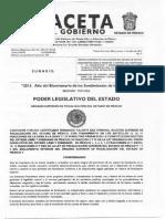 Gaceta Inventario incorporacion y desincorp Bienes inmuebles Edomex