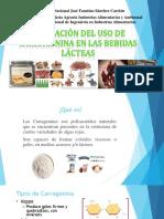 EVALUACION DEL USO DE CARRAGENINA EN LAS BEBIDAS LACTEAS FERMENTADAS.pptx