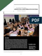 La Discusión Ausente en La Reforma Educacional