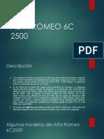 ALFA ROMEO 6C 2500 Presentacion