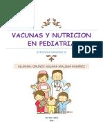 Vacunas y Nutricion en Pediatria