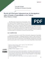 Reseña II Encuentro Corporalidad UDFJC