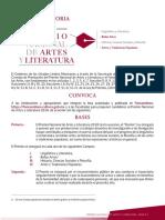 Bases Premio Artes Literatura 2018