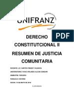 DERECHO CONSTITUTCIONAL II Resumen Sentencia Constitucional