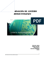 Determinación de Listeria Monocytogenes