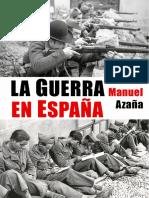 LA GUERRA EN ESPAÑA - Manuel Azaña