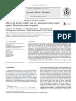 Efficacy of Bacillus Subtilis V26 as a Biological Control Agent