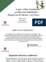 Impuestos Que Cobra El Gobierno en La Produccion Industrial..