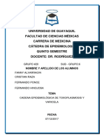 Cadena Epidemilogia Toxoplasmosis y Varicela