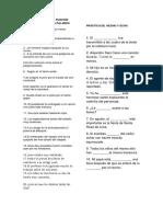 Práctica de La Función Sintáctica de La Palabra (1)
