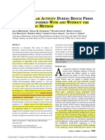 Pré-exaustão - Estudo 4-Neuromuscular Activity During Bench Press