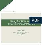 EndNote CSA Illumina Database Import