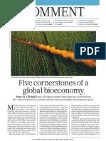 Bioeconomy cornstones