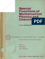 Sneddon Special Functions of Mathematical Physics and Chemistry