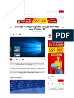 Gestos y Atajos Windows 10