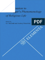 Companion to Heideggers Phenomenology of Religio