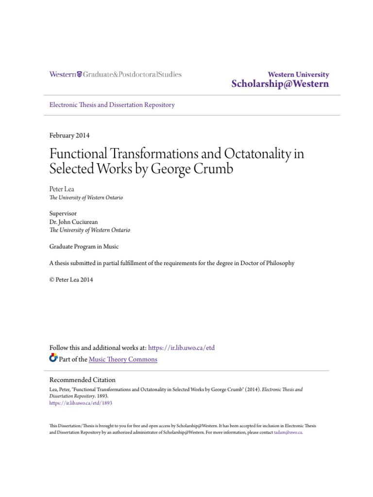 Functional Transformations and Octatonality in Selected Works by George  Crumb   Chord (Music)   Thesis b248279d695