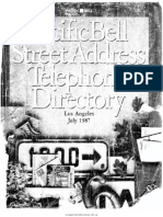 1987 Los Angeles Street Address Directory
