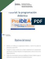 Tutorial ProIDEAC Canarias