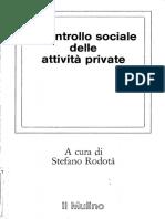 Il Controllo Sociale Delle Attività Private