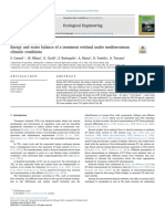 Energy and water balance of a treatment wetland under mediterranean climatic conditions