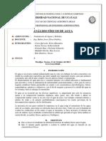 2.- Analisis Fìsicos Del Agua