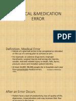 Medical &Medication Error