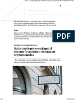 Suiza Puede Poner en Jaque El Sistema Financiero