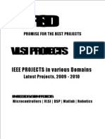 VLSI Project Titles, 2009 - 2010 Final Year Projects