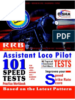 Disha's 101 Speed Tests for Assistant Loco Pilot