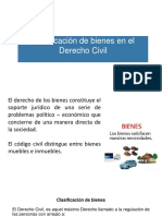 Clasificación de Bienes en El Derecho Civil