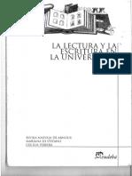 La Lectura y La Escritura en La Universidad