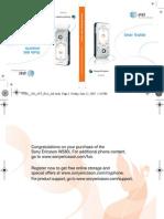 Sony Ericsson W580i User Manual