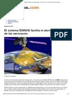 El Sistema EGNOS Facilita El Aterrizaje Seguro de Las Aeronaves - Noticias Infoespacial Mundo