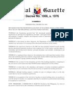 PD 1006 - Decree Professionalizing Teaching