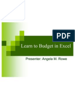 Learn to Budget in Excel