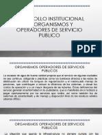 Desarrollo Institucional de Organismos y Operadores de Servicio