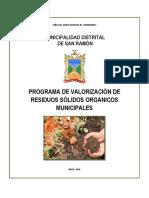 Programa de Valorizacion de Residuos Solidos Organicos Municipales