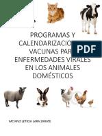 Programas y Calendarizacion de Vacunas Para Enfermedades Virales