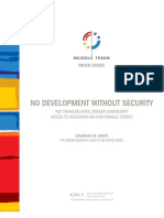 No Development without Security