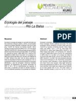Ecología Del Paisaje en Balsa