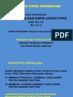 1 Kuliah_Teknis Penulisan Karya Ilmiah