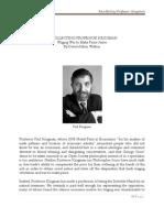Recollecting Professor Krugman by David Arthur Walters