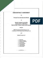 روعه Subcontract Agreement - Meydan Project