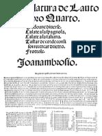 Intabulatura de Lauto Libro IV Dalza
